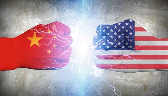 Symbol picture about China USA rivalry