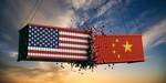 Symbol picture trade war USA and China.